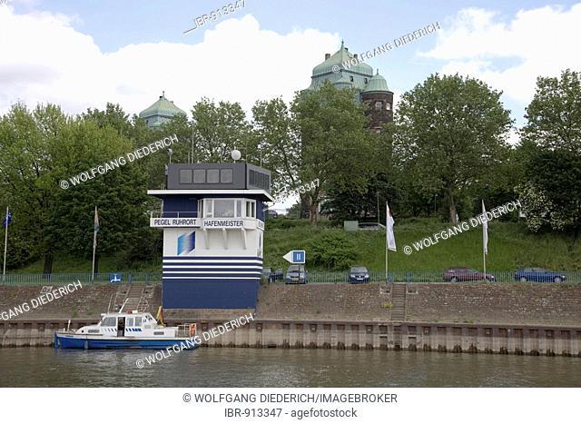 Harbour master, Pegel Ruhrort, Duisburg, North Rhine-Westphalia, Germany, Europe