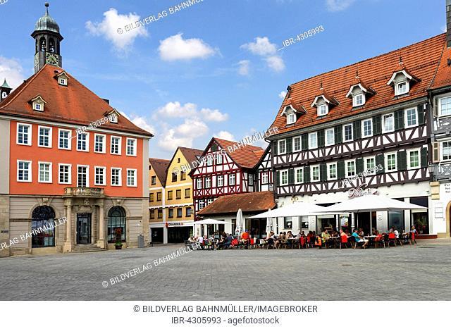 Town hall, marketplace, Schorndorf, Baden-Württemberg, Germany