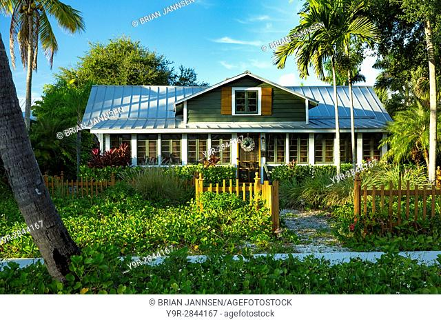 Fisherman's Lodge - a cottage home, built in 1919 in historic old Naples, Florida, USA