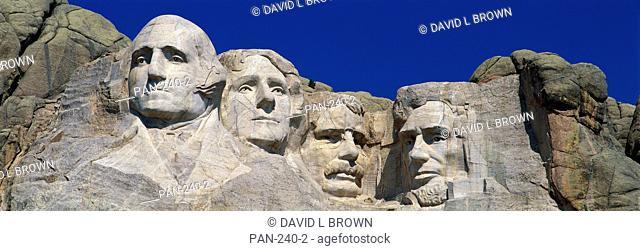 Mount Rushmore Monument to Presidents Washington, Jefferson, Roosevelt and Lincoln, South Dakota, USA