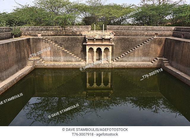 Old stepwell at the Taragarh Fort, Bundi, Rajasthan, India