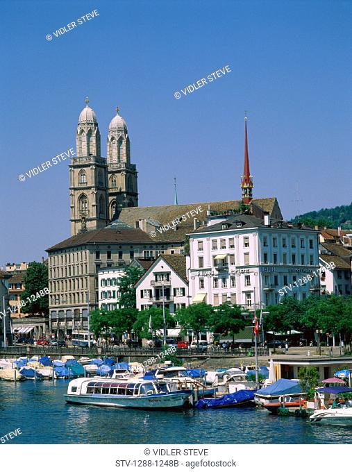 Boats, Harbor, Holiday, Lake, Landmark, Port, Switzerland, Europe, Tourism, Travel, Vacation, Zurich