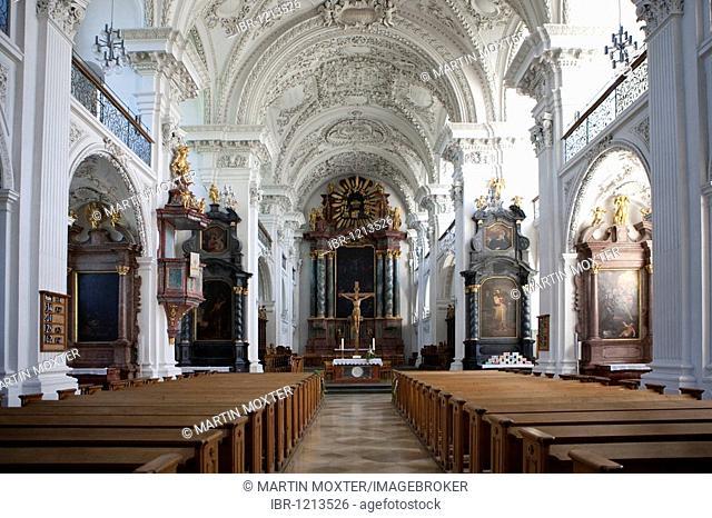 Castle church, Friedrichshafen on Lake Constance, Baden-Wuerttemberg, Germany, Europe