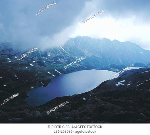 The Tatra mountains in spring, a storm is coming