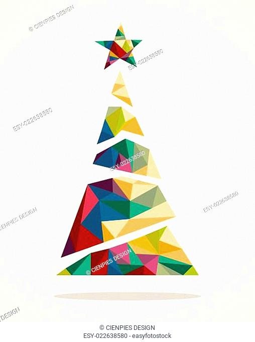 Merry Christmas trendy abstract tree EPS10 file