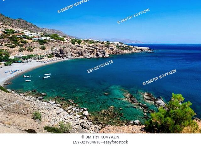 Bay with a beach on the island of Crete