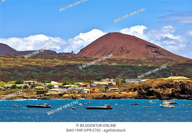 Picture of Georgetown the main town on Ascension Island at the African West Coast