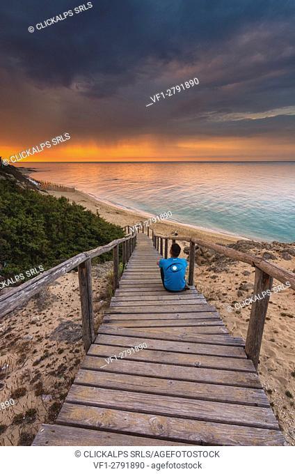 Europe, Italy, Piri Piri Beach at dawn, Salento, Apulia