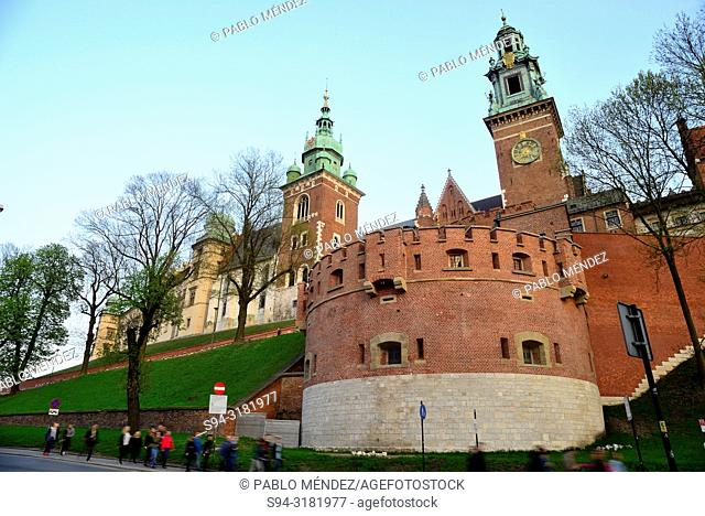 Wawel: Cathedral and walls, Krakow, Poland