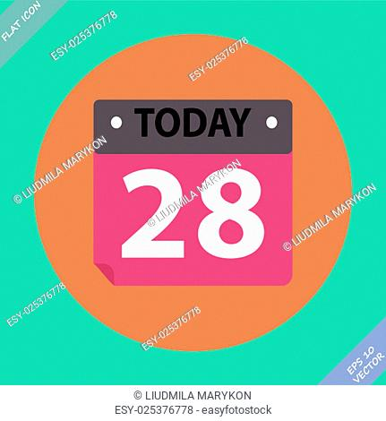 Vector Calendar Icon - vector illustration. Flat design element
