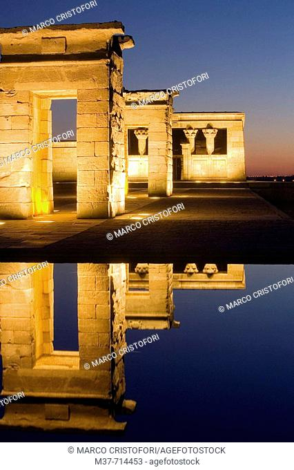 Debod temple, Madrid. Spain