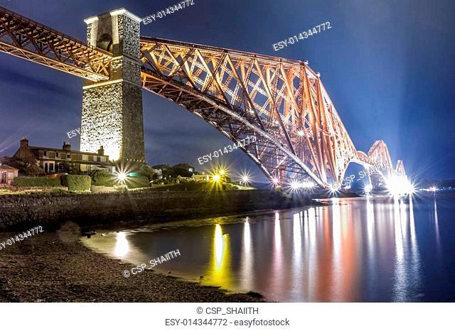 Night over the river in Edinburgh