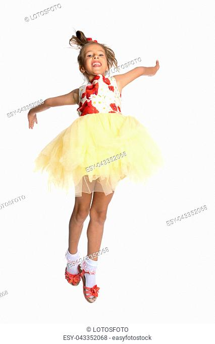 673f06c0c Little girl dancing outdoors Stock Photos and Images