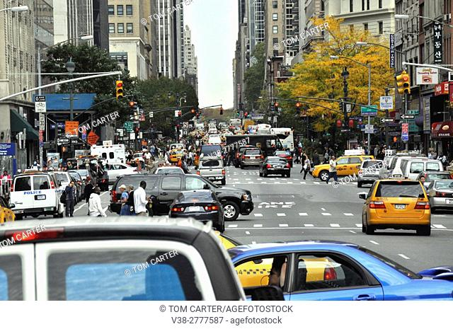 Traffic in downtown New York City going nowhere