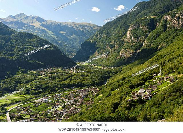 Malvaglia village and valley, canton of Ticino, Switzerland