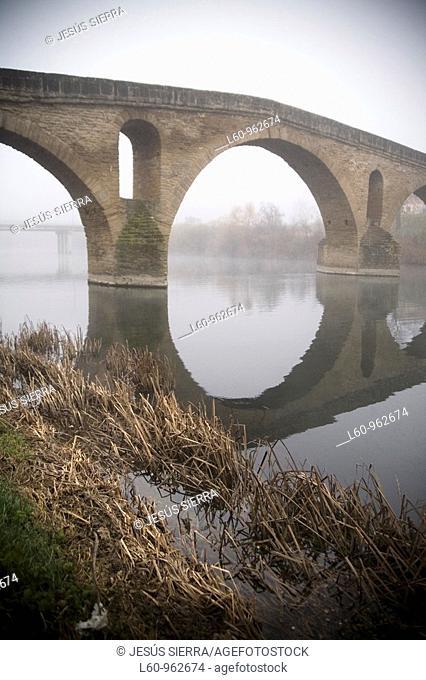 bridge Puente la Reina, Way of St  james  Navarre, Spain
