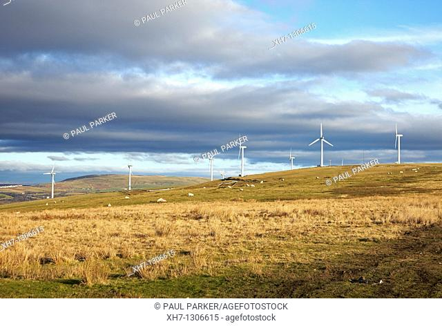 Wind Farm near Bridgend, South Wales, UK
