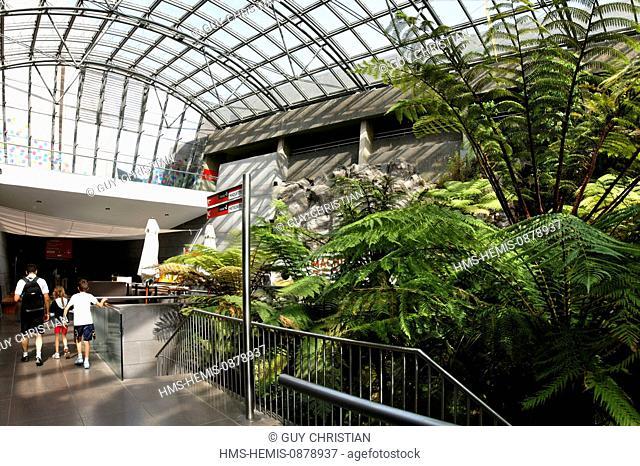 France, Puy de Dome, Parc Naturel Regional des Volcans d'Auvergne (Natural regional park of Volcans d'Auvergne), Saint Ours, Vulcania, the greenhouse