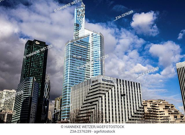 La Defense skyline in Paris, France