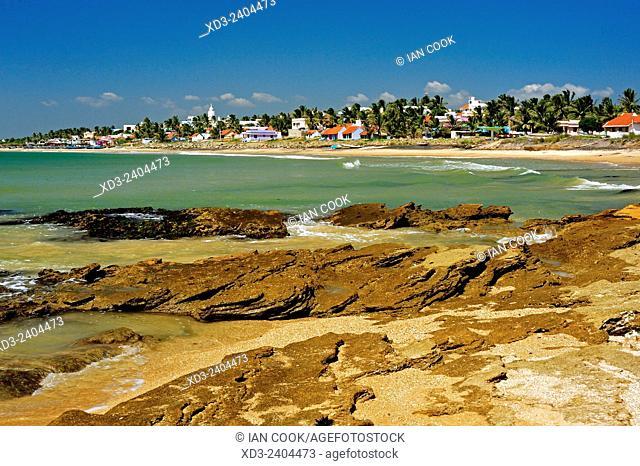 Kovalam viewed from Twin Beach, Kanyakumari, Tamil Nadu, India
