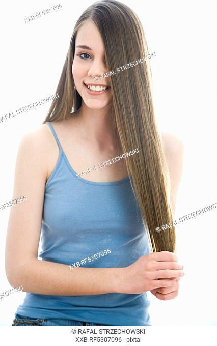 woman with strong hair