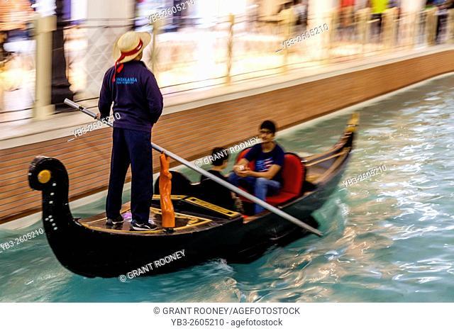 People Taking A Gondola Ride, Villaggio Shopping Mall, Doha, Qatar