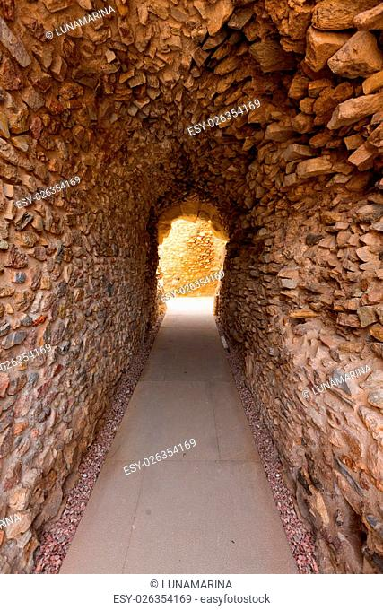Cartagena Roman Amphitheater corridor in Murcia Spain