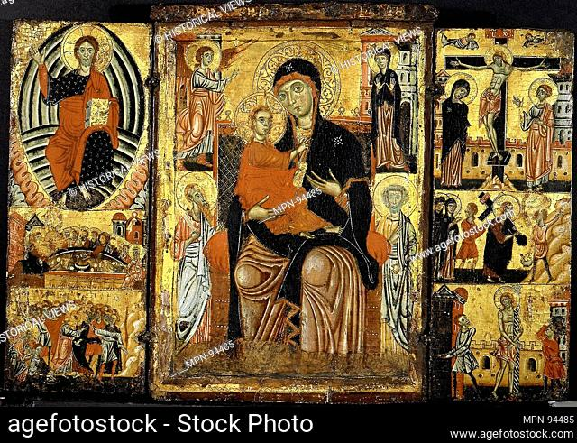 Madonna and Child Enthroned. Artist: Master of the Magdalen (Italian, Florence, active 1265-95); Medium: Tempera on wood
