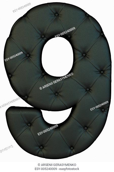 Luxury black leather font 9 figure