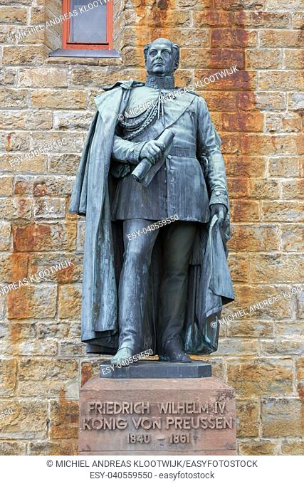 Statues at Hohenzollern Castle (Burg Hohenzollern) at the swabian region of Baden-Wurttemberg, Germany