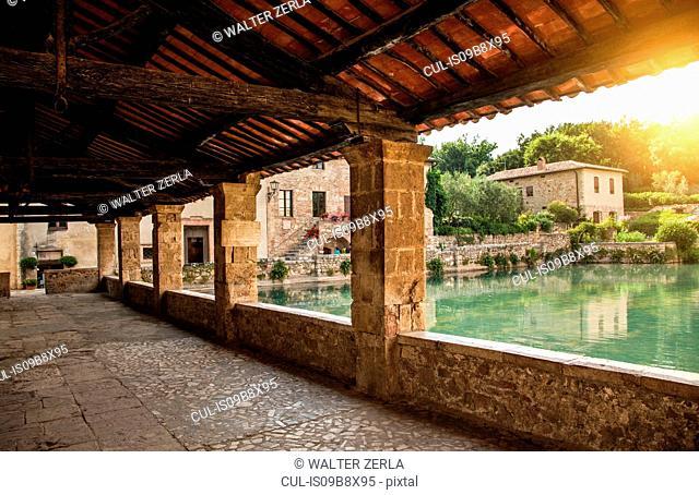 Bagno Vignoni, Val d'Orcia Natural Park, Tuscany