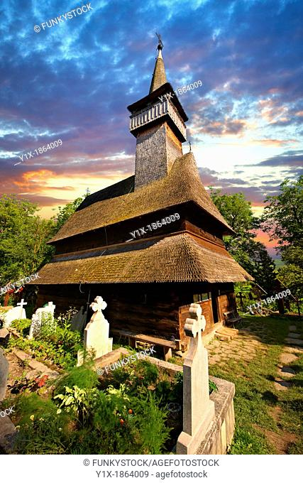 Wooden Church of the Orthodox Church on The Hill, Maramures, Northern Transylvania, Romania, UNESCO World Heritage Site