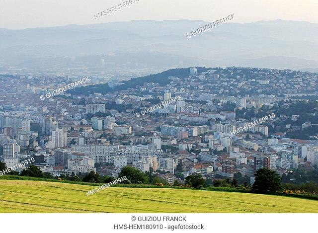 France, Loire, Saint Etienne, view of the city from the Guizay