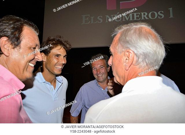 Rafa Nadal talking to Johan Cruyff, Palma de Mallorca, Balearic Islands, Spain