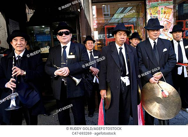 Asian musicians. New York City. USA
