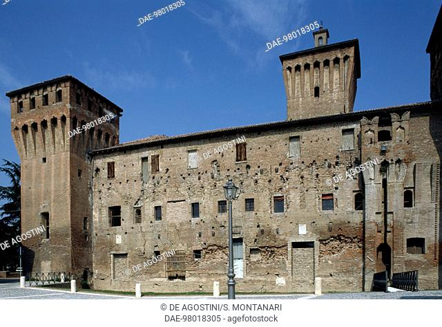 Rocche Castle, before the 2012 earthquake, Finale Emilia, Emilia-Romagna. Italy, 15th century