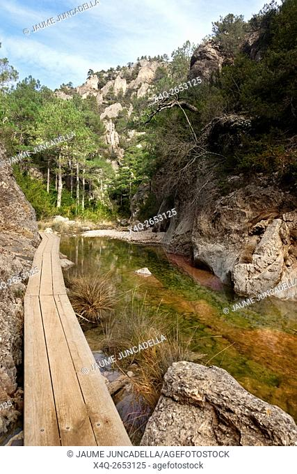 Matarranya river gorge in Spain