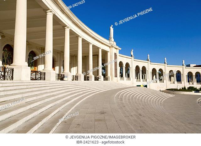 Balustrade of The Basilica of Our Lady of the Rosary, Santuario de Fatima, Fatima Shrine, Sanctuary of Our Lady of Fatima, Fatima, Ourem, Santarem, Portugal