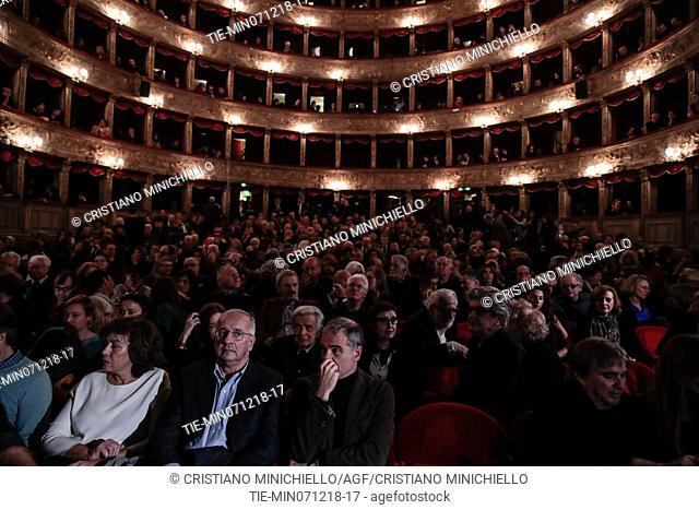The evening in memory of Bernardo Bertolucci at the Argentina Theatre in Rome, ITALY-06-12-2018
