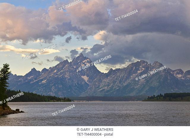 USA, Wyoming, Teton Range