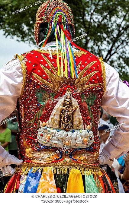 Peruvian Contradanza Troupe Performs Celebration of the Fiesta de la Virgen del Carmen de Paucartambo, Smithsonian Folklife Festival, Washington, D. C