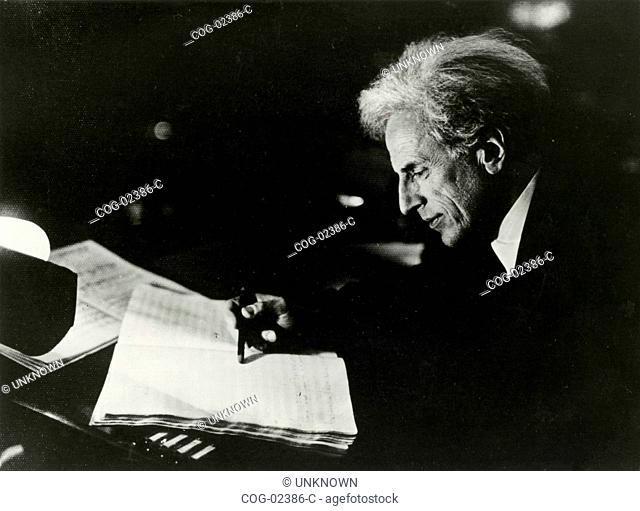 The master Gino Marinuzzi, composer, Italy