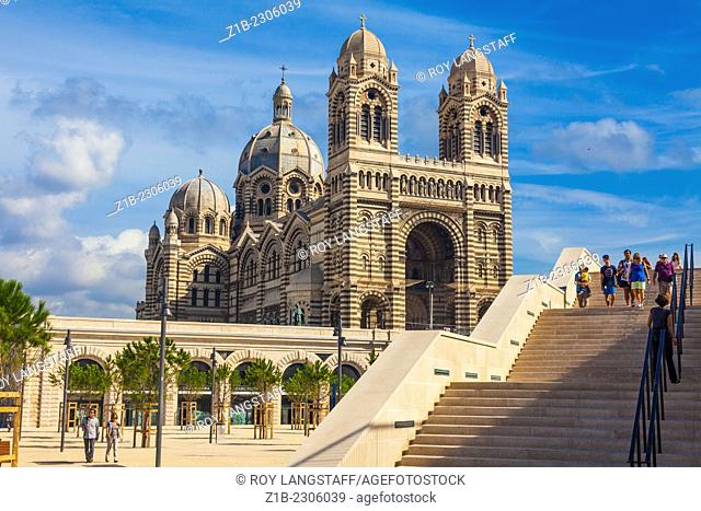 Stairs leading to the Cathedral Major in Marseille