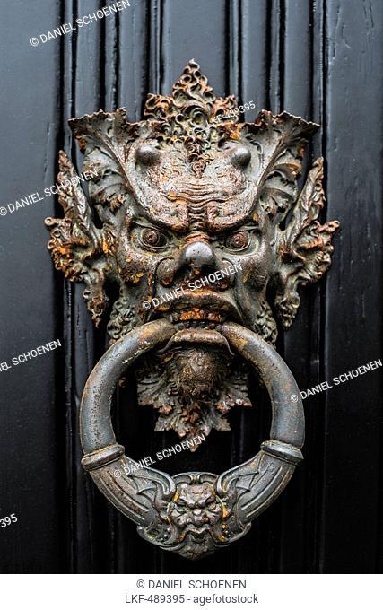 Door knocker, Villa Monastero, Varenna, Lake Como, Lago di Como, Province of Lecco, Lombardy, Italy