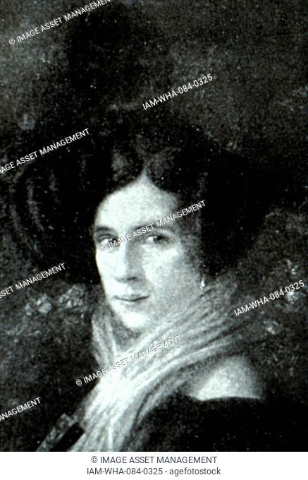 Portrait of Margherita Barezzi (1814-1840) wife of Ritratto di Giuseppe Verdi (1813-1901) an Italian composer. Dated 19th Century