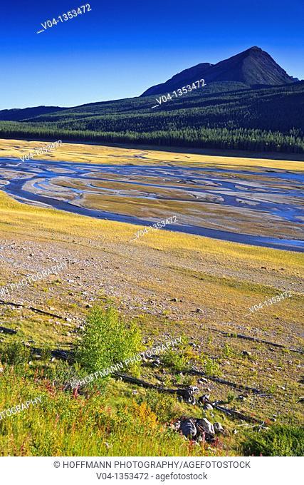 The dried up Medicine Lake in the Jasper National Park, Alberta, Canada