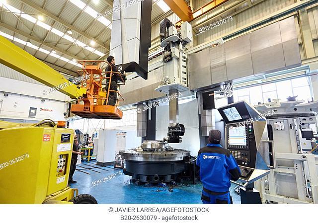 Vertical lathe. Machining Center. CNC. Design, manufacture and installation of machine tools. Bost Machine Tools Company. Asteasu. Gipuzkoa