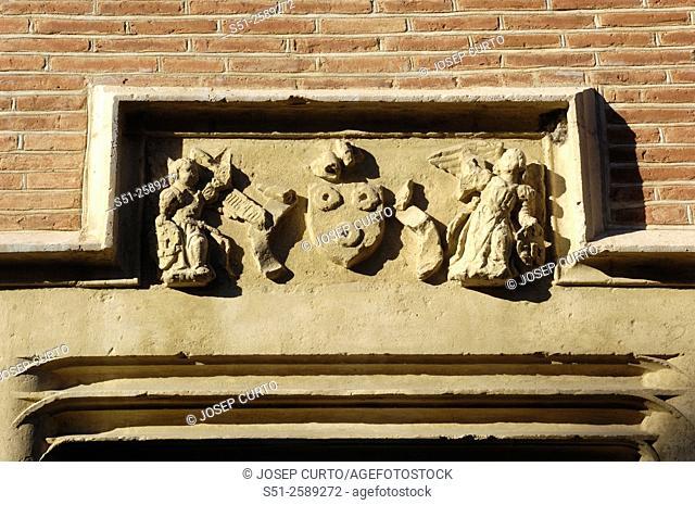 Sculpture of door, Musée Saint Raymond antiques museum, Toulouse, France