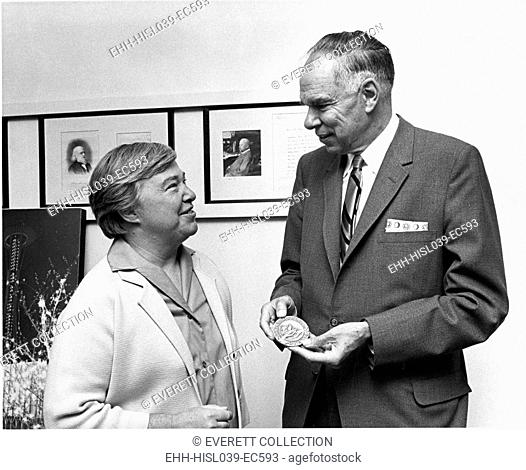Marine biologist Dixy Lee Ray and chemist Glenn Seaborg in Seattle in 1968. Ray was director of the Pacific Science Center in Seattle