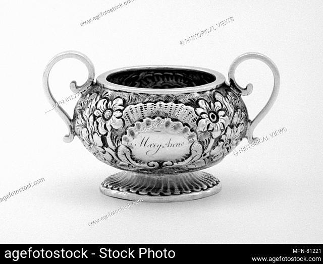 Miniature sugar bowl (part of a set). Artist: Henry Flavelle; Date: 1827 and 1829; Culture: Irish, Dublin; Medium: Silver; Dimensions: 1 1/8 x 2 in